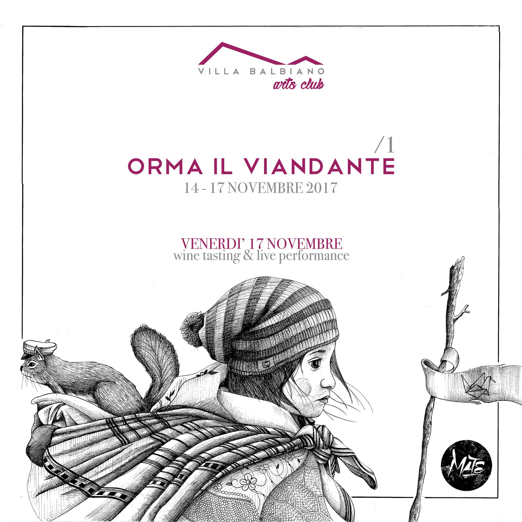 [VILLA BALBIANO Arts Club] Orma il Viandante